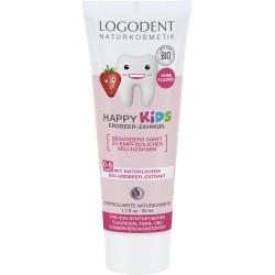 Logodent Happy Kids - Erdbeer Zahngel